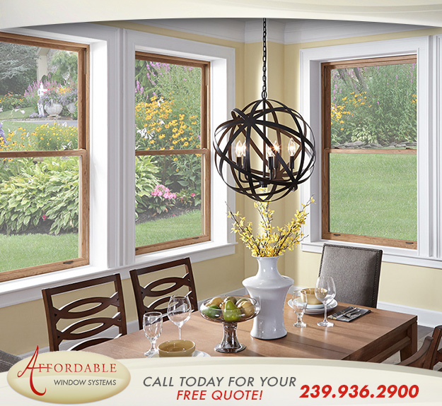 Replacement Impact Double Hung Windows in and near Estero Florida