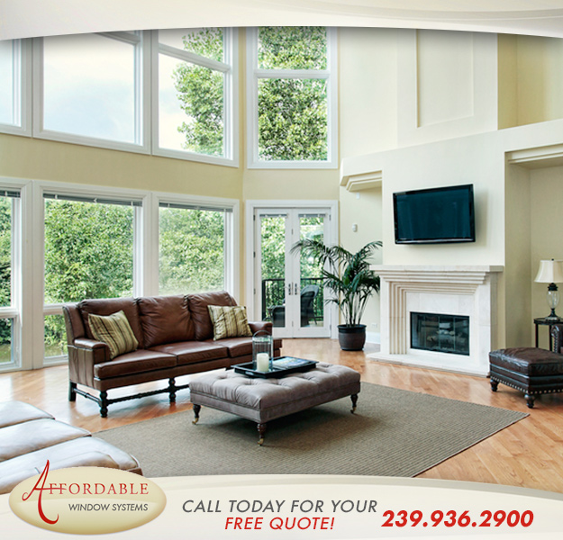 Non Impact Replacement Windows in and near Naples Florida