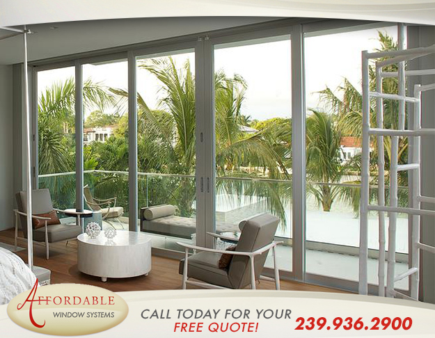 Replacement Impact Aluminum Doors in and near North Naples Florida